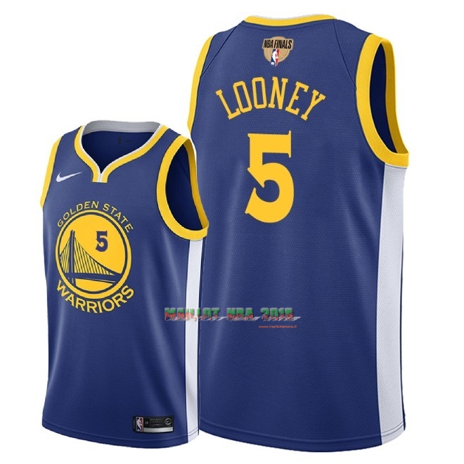 Maillot NBA Golden State Warriors 2018 Final Champions NO.5 Kevon Loone Bleu Icon Patch