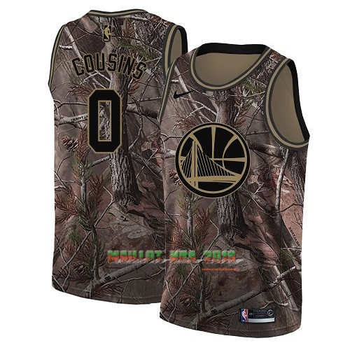Maillot NBA Golden State Warriors NO.0 DeMarcus Cousins Camo Swingman Collection Realtree 2018