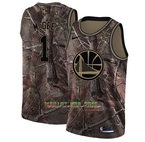 Maillot NBA Golden State Warriors NO.1 JaVale McGee Camo Swingman Collection Realtree 2018