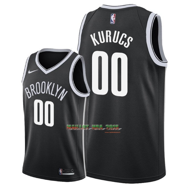 Maillot NBA Nike Brooklyn Nets NO.0 Rodions Kurucs Noir Icon 2018
