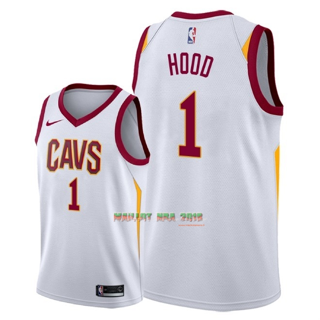 Maillot NBA Nike Cleveland Cavaliers NO.1 Rodney Hood Blanc Association 2018