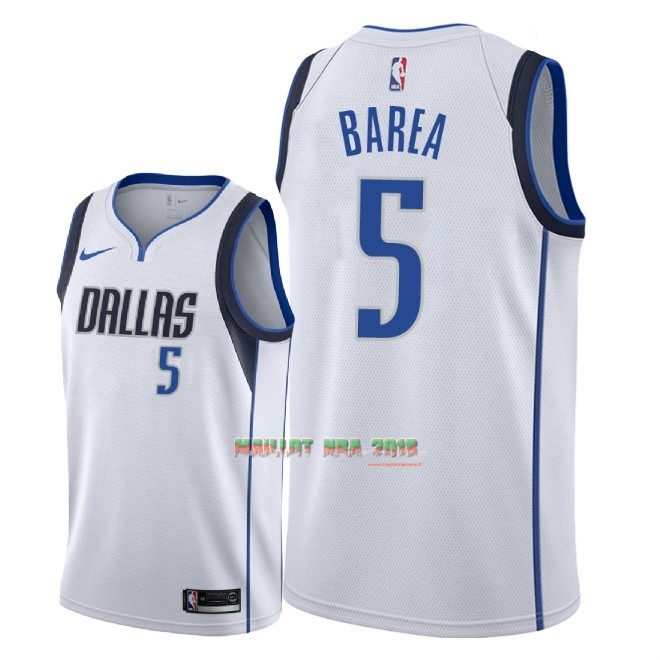 Maillot NBA Nike Dallas Mavericks NO.5 J.J. Barea Blanc Association 2018