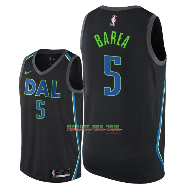 Maillot NBA Nike Dallas Mavericks NO.5 J.J. Barea Nike Noir Ville 2018