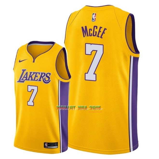 Maillot NBA Nike Los Angeles Lakers NO.7 JaVale McGee Jaune Icon 2018
