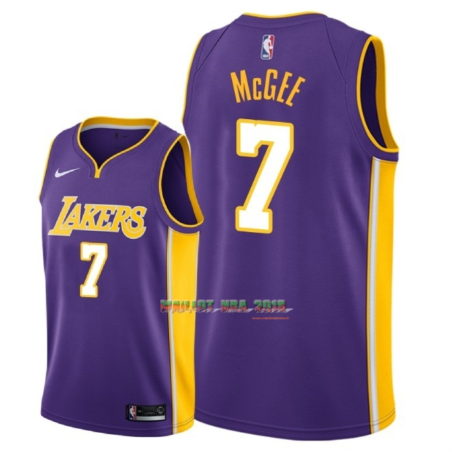 Maillot NBA Nike Los Angeles Lakers NO.7 JaVale McGee Pourpre Statement 2018
