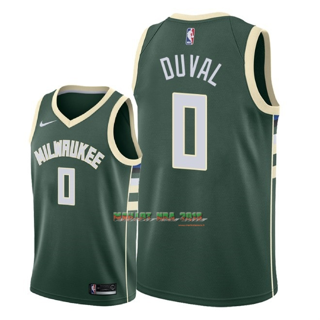 Maillot NBA Nike Milwaukee Bucks NO.0 Trevon Duval Vert Icon 2018