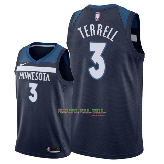Maillot NBA Nike Minnesota Timberwolves NO.3 Jared Terrell Marine Icon 2018