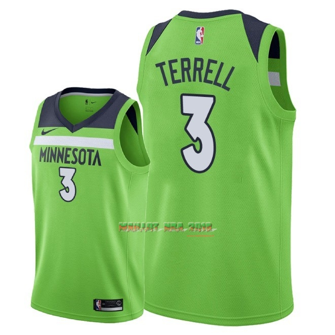 Maillot NBA Nike Minnesota Timberwolves NO.3 Jared Terrell Vert Statement 2018