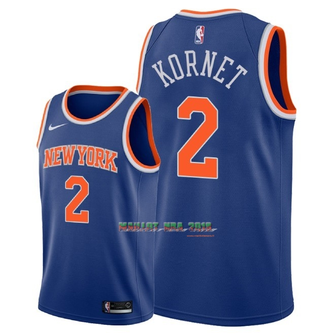 Maillot NBA Nike New York Knicks NO.2 Luke Kornet Bleu Icon 2018
