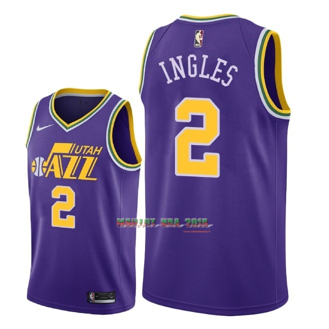 Maillot NBA Nike Utah Jazz NO.2 Joe Ingles Retro Pourpre 2018