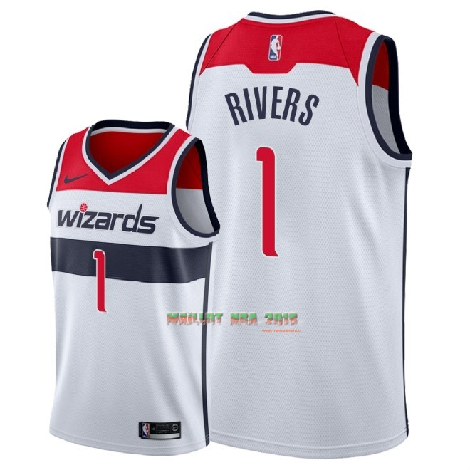Maillot NBA Nike Washington Wizards NO.1 Austin Rivers Blanc Association 2018