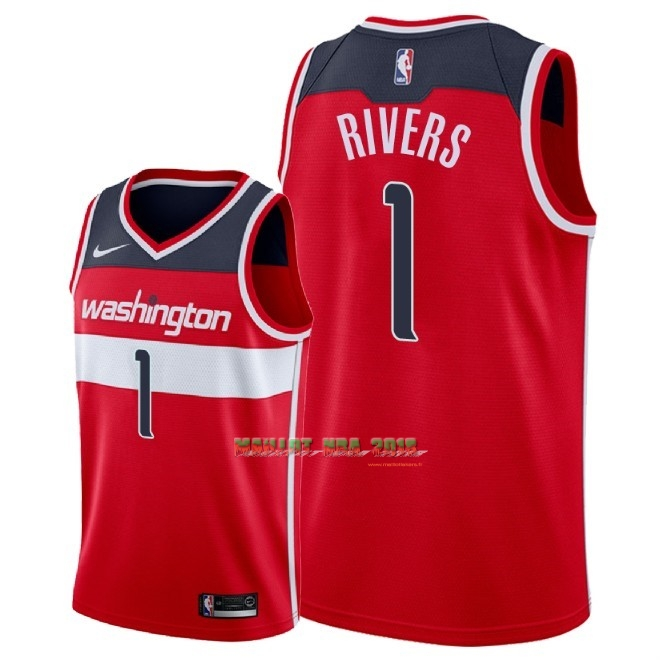 Maillot NBA Nike Washington Wizards NO.1 Austin Rivers Rouge Icon 2018