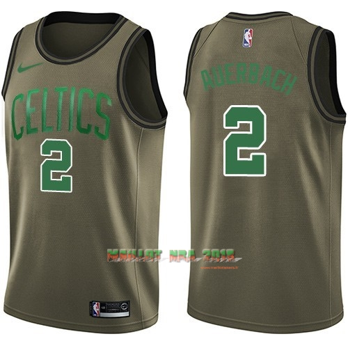 Maillot NBA Service De Salut Boston Celtics NO.2 Red Auerbach Nike Armée verte 2018
