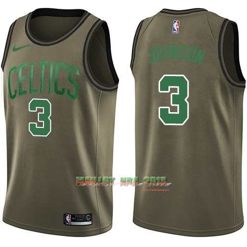 Maillot NBA Service De Salut Boston Celtics NO.3 Dennis Johnson Nike Armée verte 2018