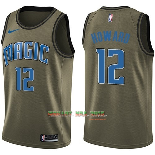 Maillot NBA Service De Salut Orlando Magic NO.12 Dwight Howard Nike Armée verte 2018