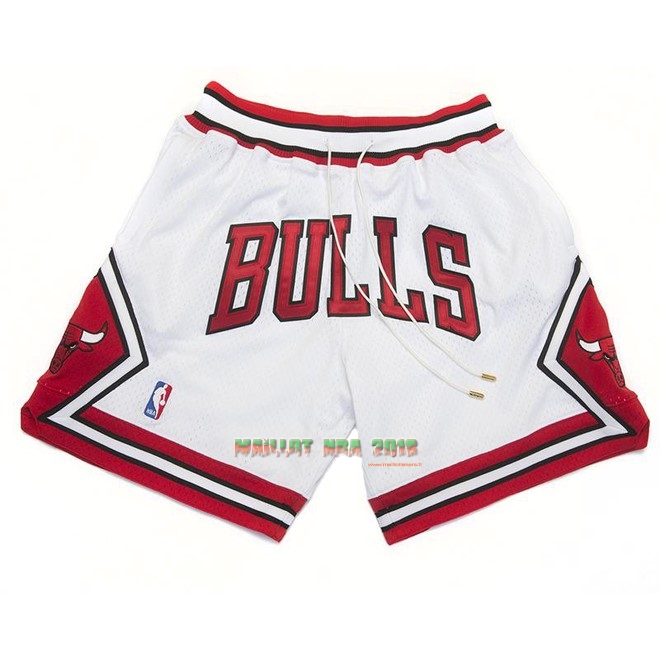 Short Basket Chicago Bulls Nike Retro Blanc 2018