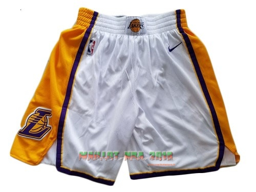 Short Basket Los Angeles Lakers Nike Blanc 2018