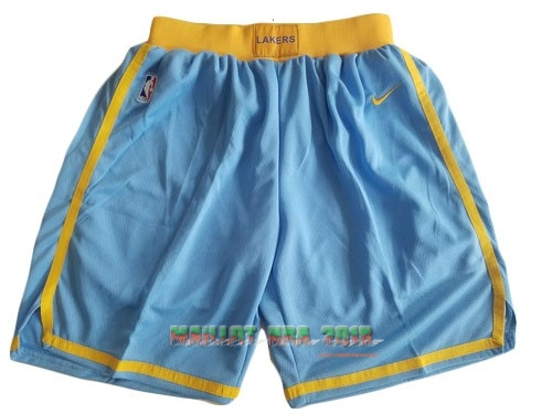 Short Basket Los Angeles Lakers Nike Bleu 2018