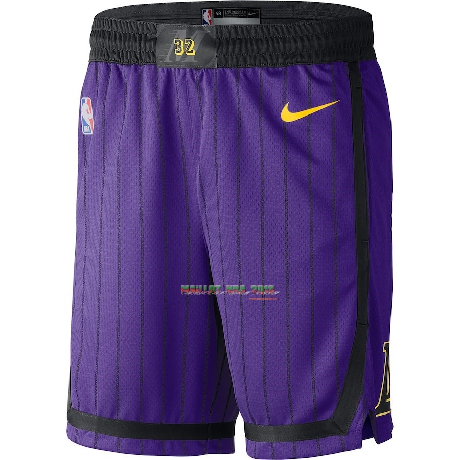Short Basket Los Angeles Lakers Nike Pourpre Ville 2018-19