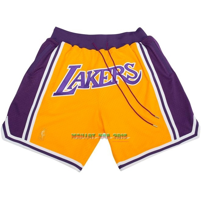 Short Basket Los Angeles Lakers Nike Retro Jaune 2018