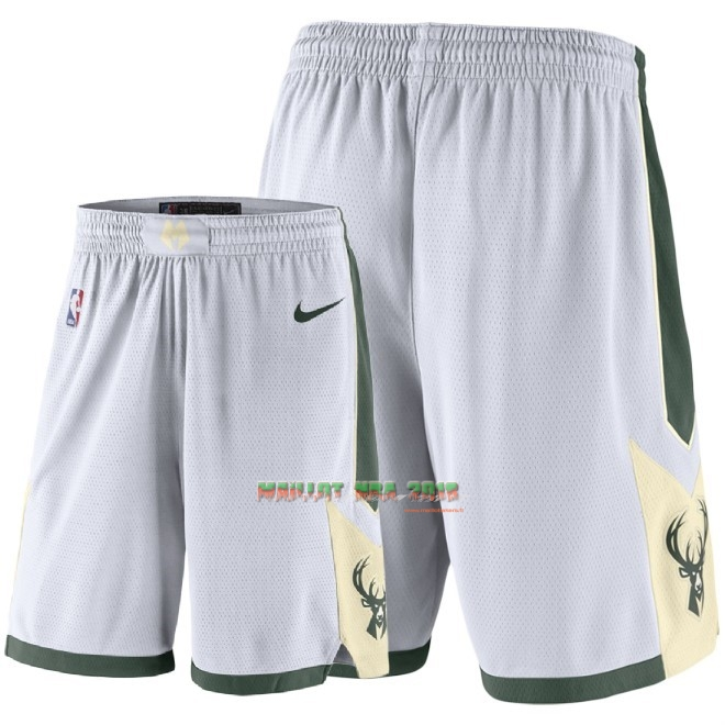 Short Basket Milwaukee Bucks Nike Blanc 2018