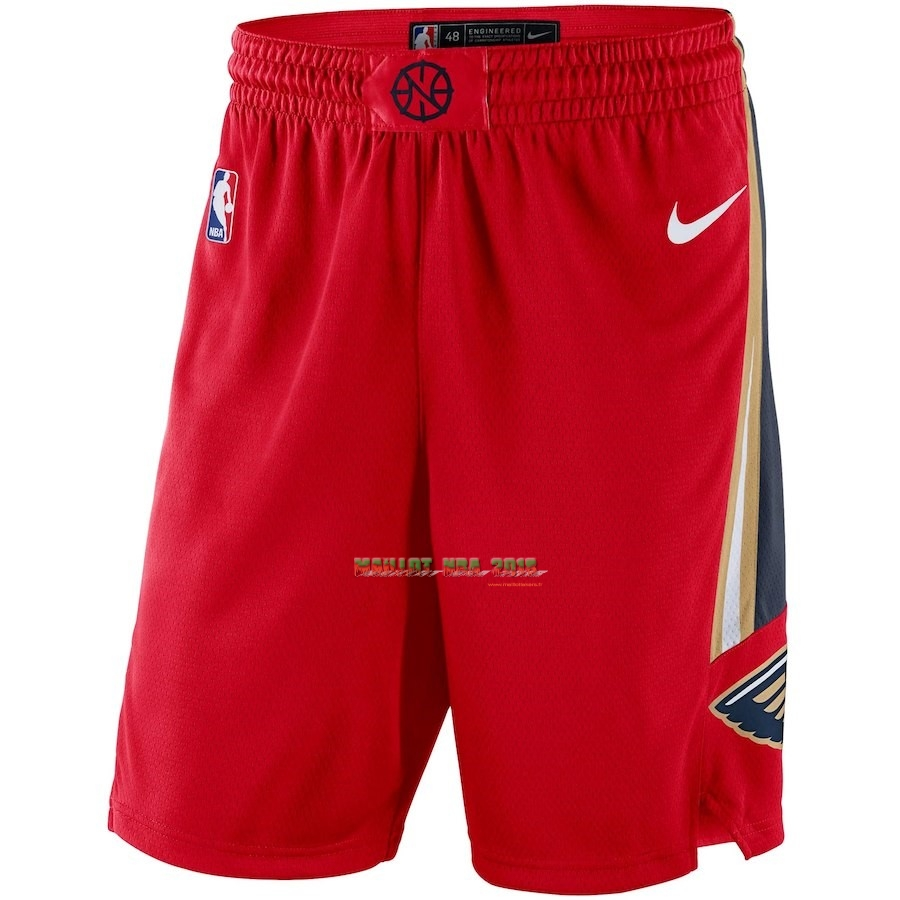 Short Basket New Orleans Pelicans Nike Rouge Statement 2018
