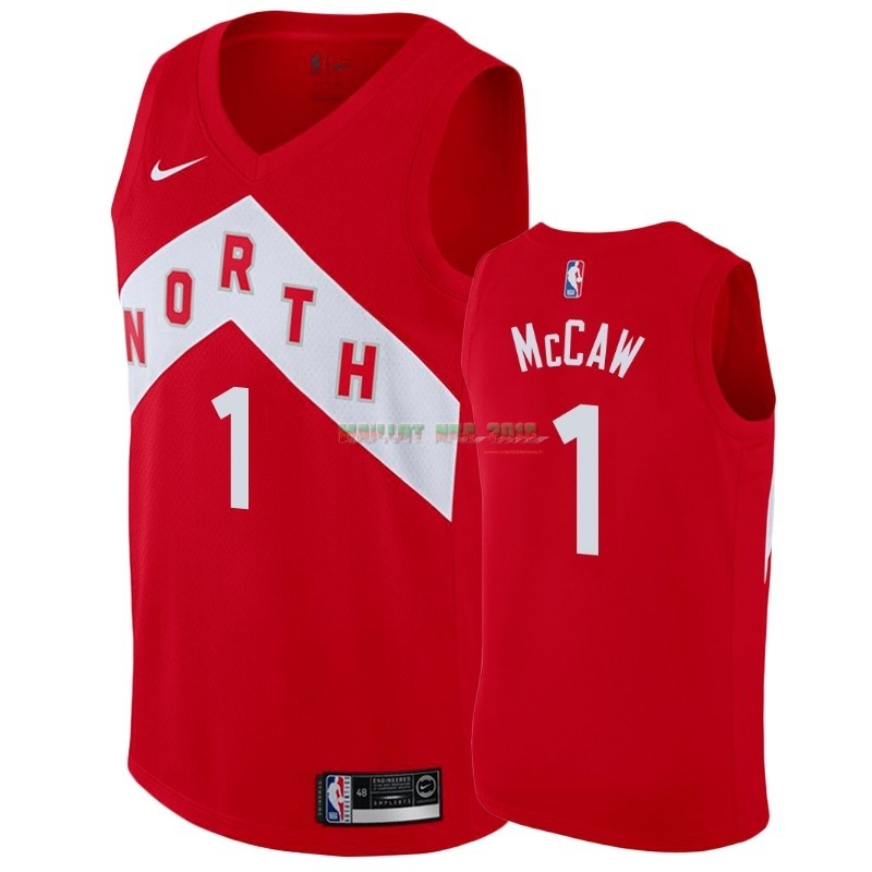 Maillot Earned Edition Toronto Raptors NO.1 Patrick McCaw Rouge 2018-19