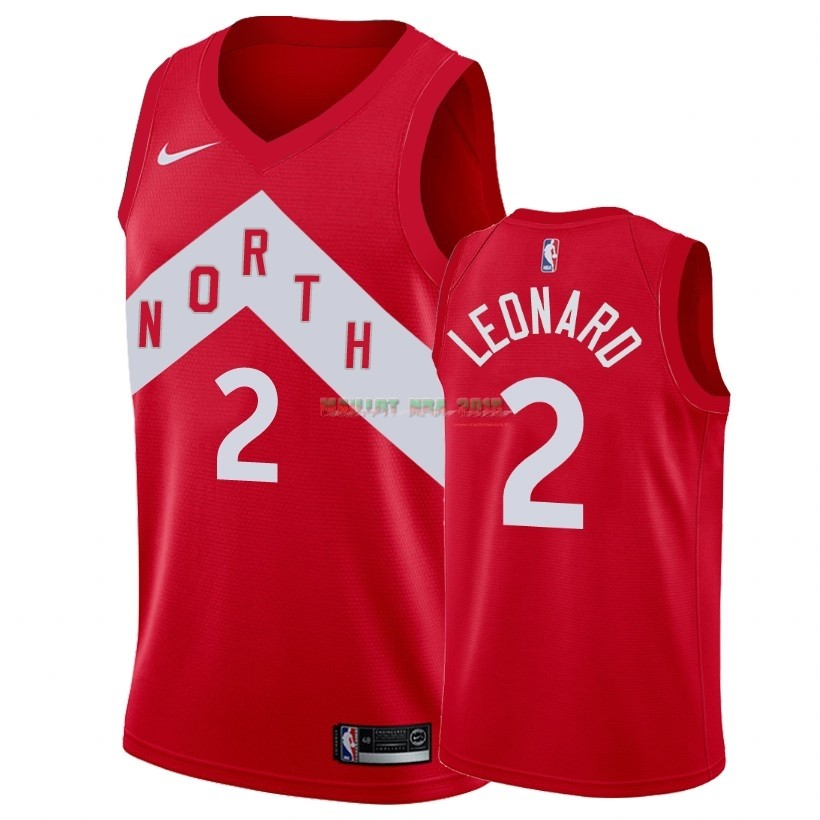 Maillot Earned Edition Toronto Raptors NO.2 Kawhi Leonard Rouge 2018-19