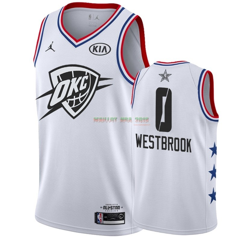 Maillot NBA 2019 All Star NO.0 Russell Westbrook Blanc