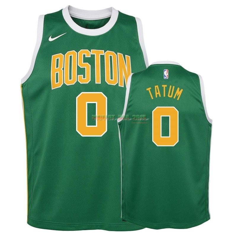 Maillot NBA Enfant Earned Edition Boston Celtics NO.0 Jayson Tatum Vert 2018-19