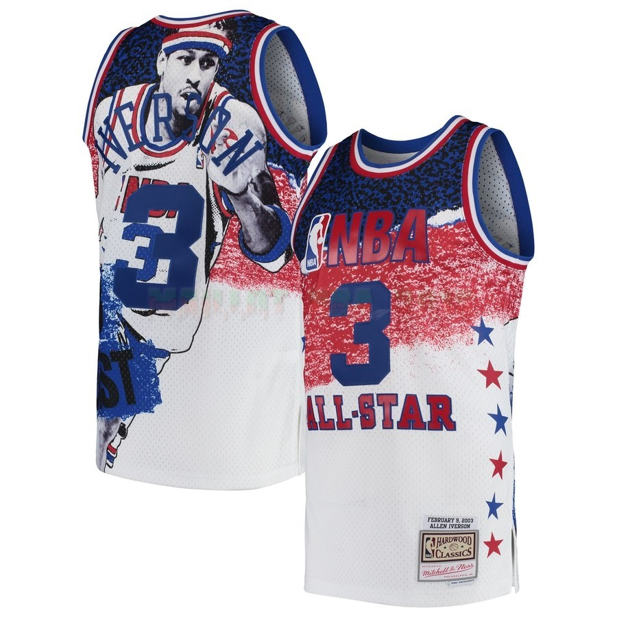 Maillot NBA All Star 2003 NO.3 Allen Iverson Blanc