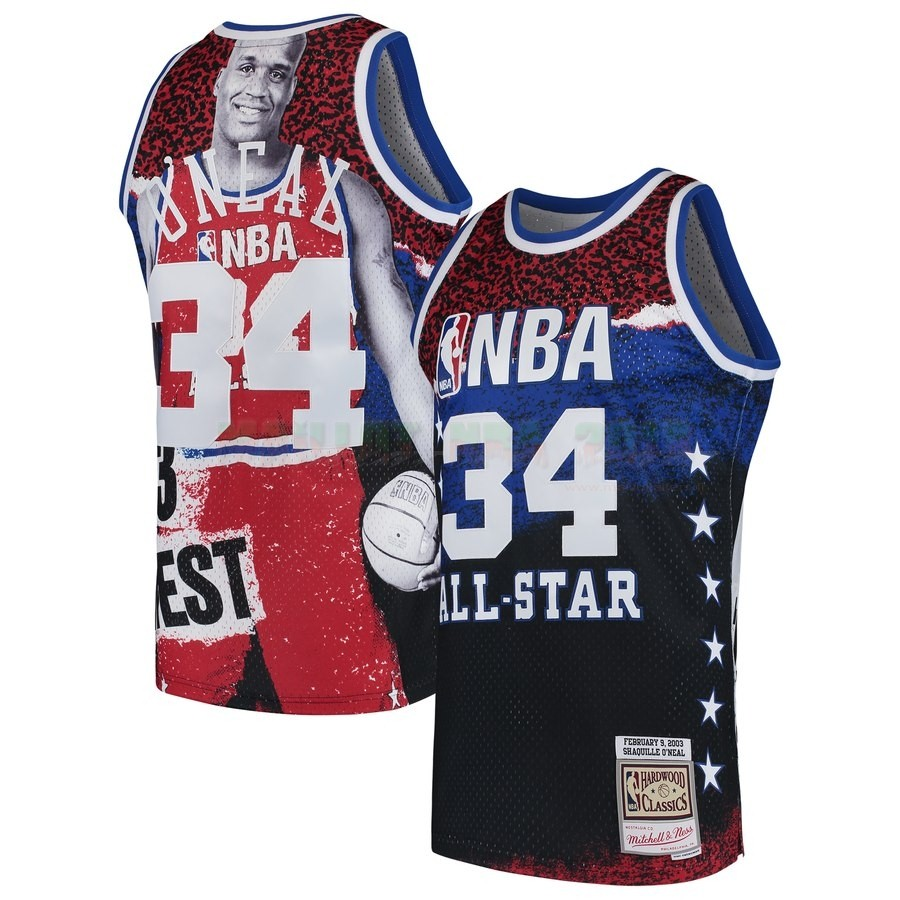 Maillot NBA All Star 2003 NO.34 Shaquilleo'Neal Rouge
