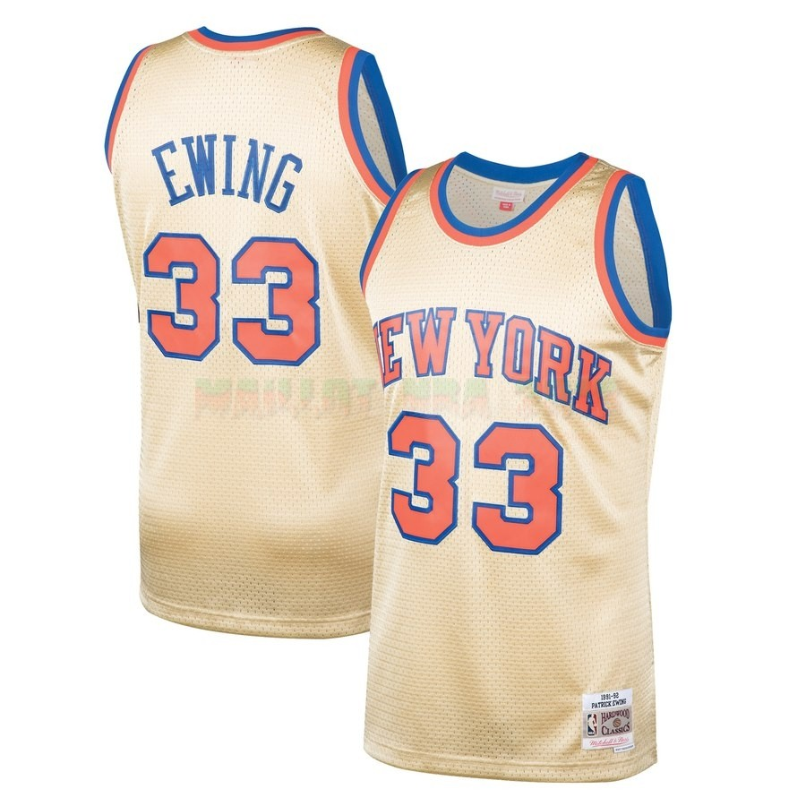 Maillot NBA New York Knicks NO.33 Patrick Ewing Or Hardwood Classics 1991-92
