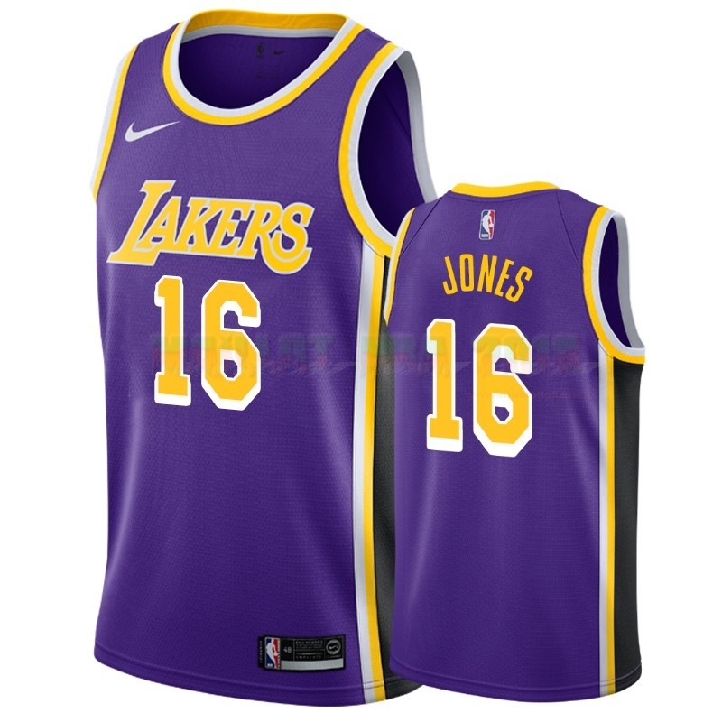 Maillot NBA Nike Los Angeles Lakers NO.16 Jemerrio Jones Pourpre Statement 2018-19