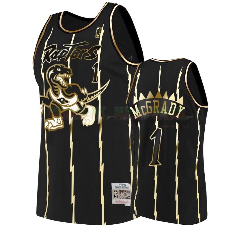 Maillot NBA Nike Toronto Raptors NO.1 Tracy Mcgrady Or Edition