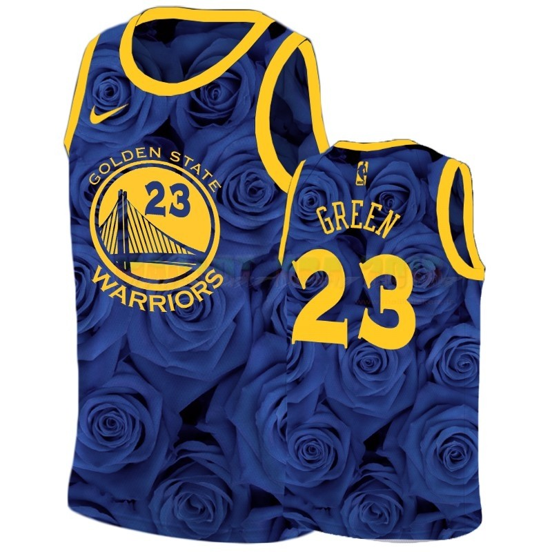 Maillot NBA Nike Golden State Warriors NO.23 Draymond Green Marine