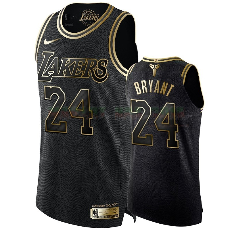 Maillot NBA Nike Los Angeles Lakers NO.24 Kobe Bryant Or Edition