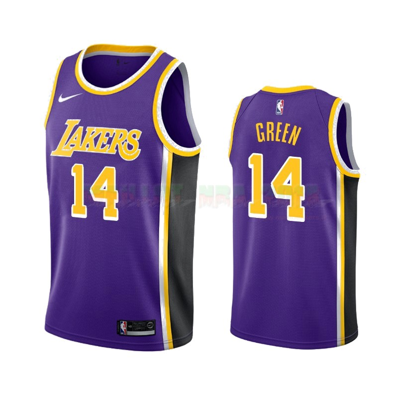 Maillot NBA Nike Los Angeles Lakers NO.14 Danny Green Pourpre Statement 2019-20