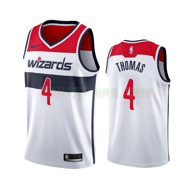 Maillot NBA Nike Washington Wizards NO.4 Isaiah Thomas Blanc Association 2019-20