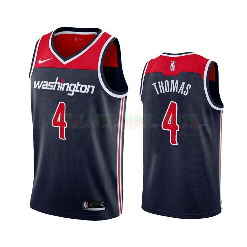 Maillot NBA Nike Washington Wizards NO.4 Isaiah Thomas Marine Statement 2019-20