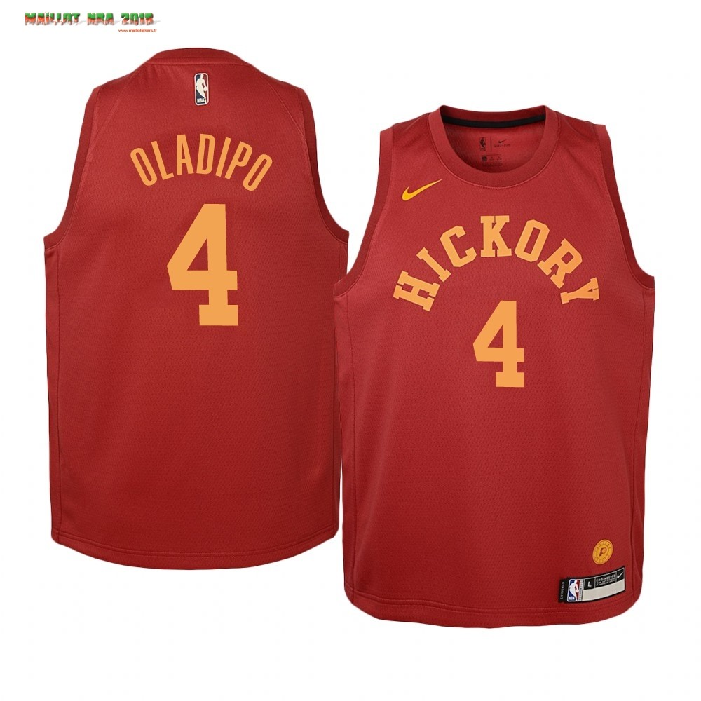 Maillot NBA Enfant Indiana Pacers NO.4 Victor Oladipo Nike Retro Bordeaux