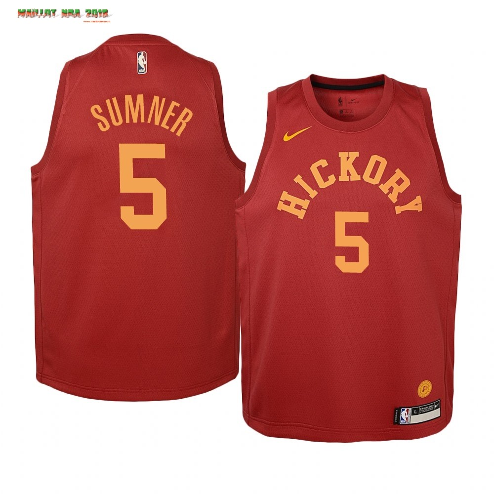 Maillot NBA Enfant Indiana Pacers NO.5 Edmond Sumner Nike Retro Bordeaux