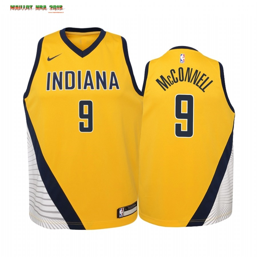 Maillot NBA Enfant Indiana Pacers NO.8 Justin Holiday Jaune Statement 2019-20