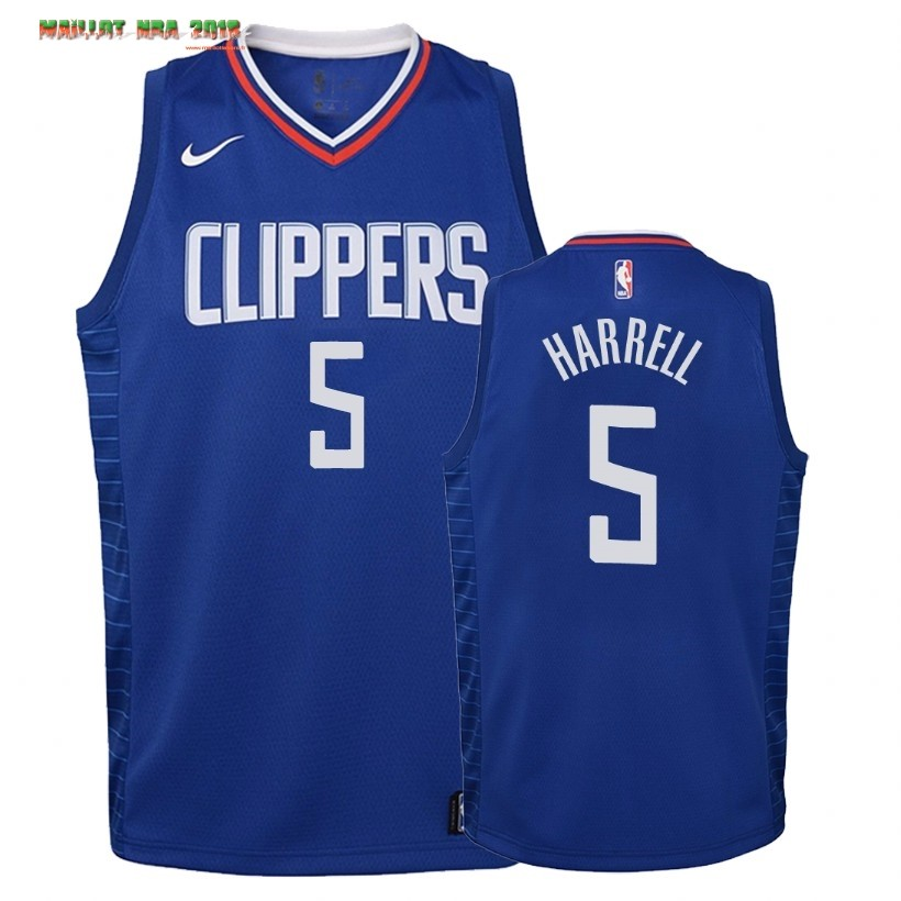 Maillot NBA Enfant Los Angeles Clippers NO.5 Montrezl Harrell Bleu Icon 2019-20