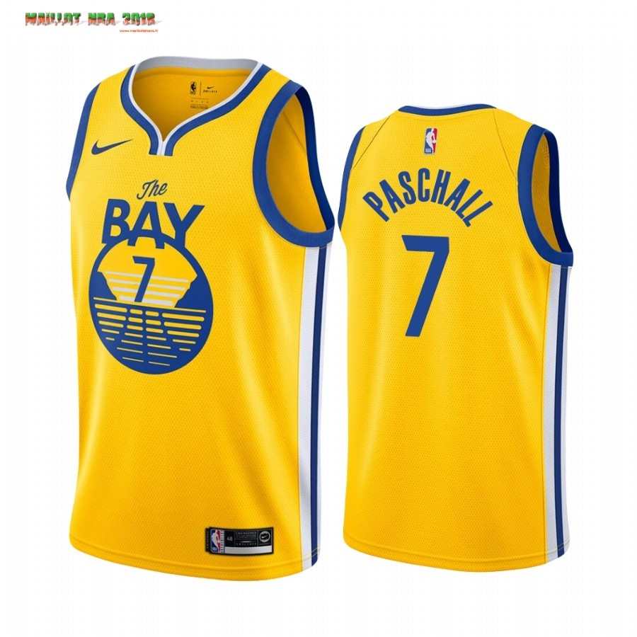 Maillot NBA Nike Golden State Warriors NO.7 Eric Paschall Jaune Statement 2019-20