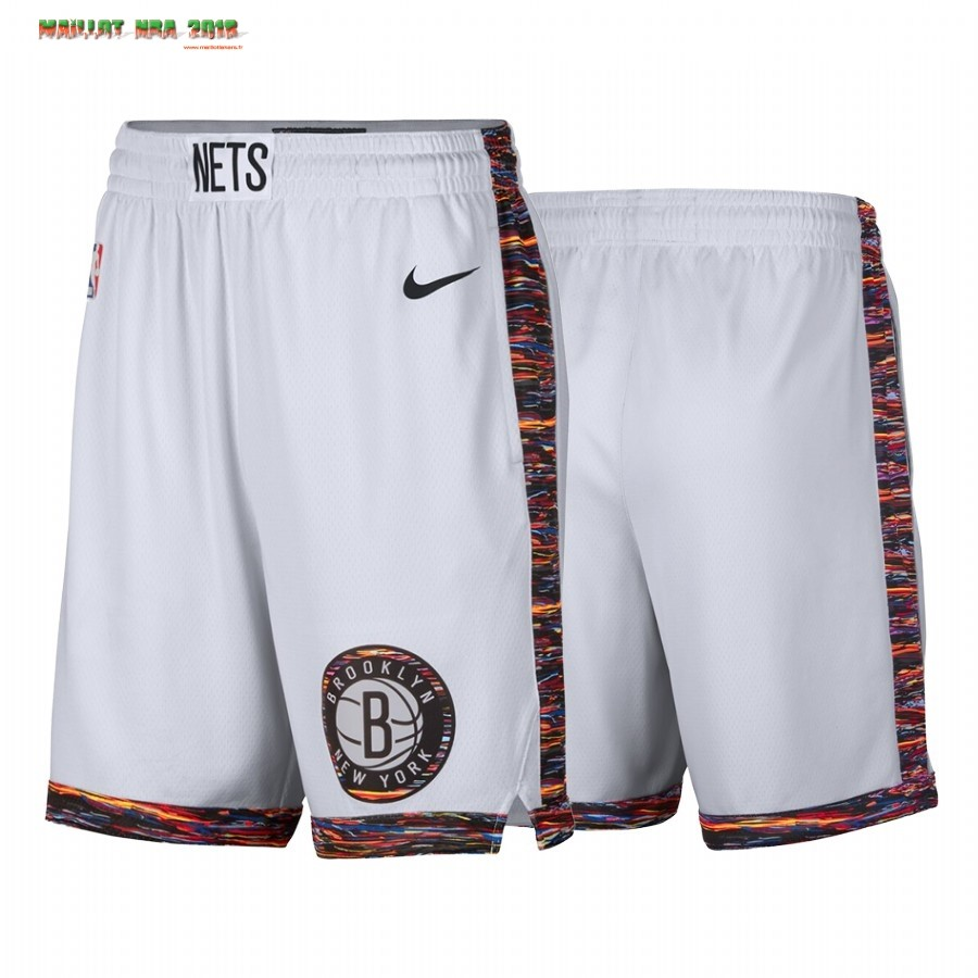 Short Basket Brooklyn Nets Nike Blanc Ville 2019-20