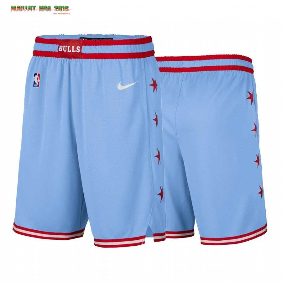 Short Basket Chicago Bulls Nike Bleu Ville 2019-20