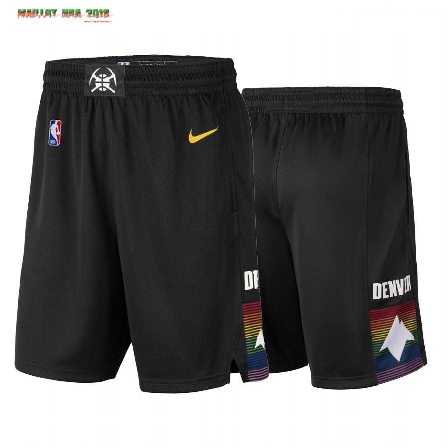 Short Basket Denver Nuggets Nike Noir Ville 2019-20