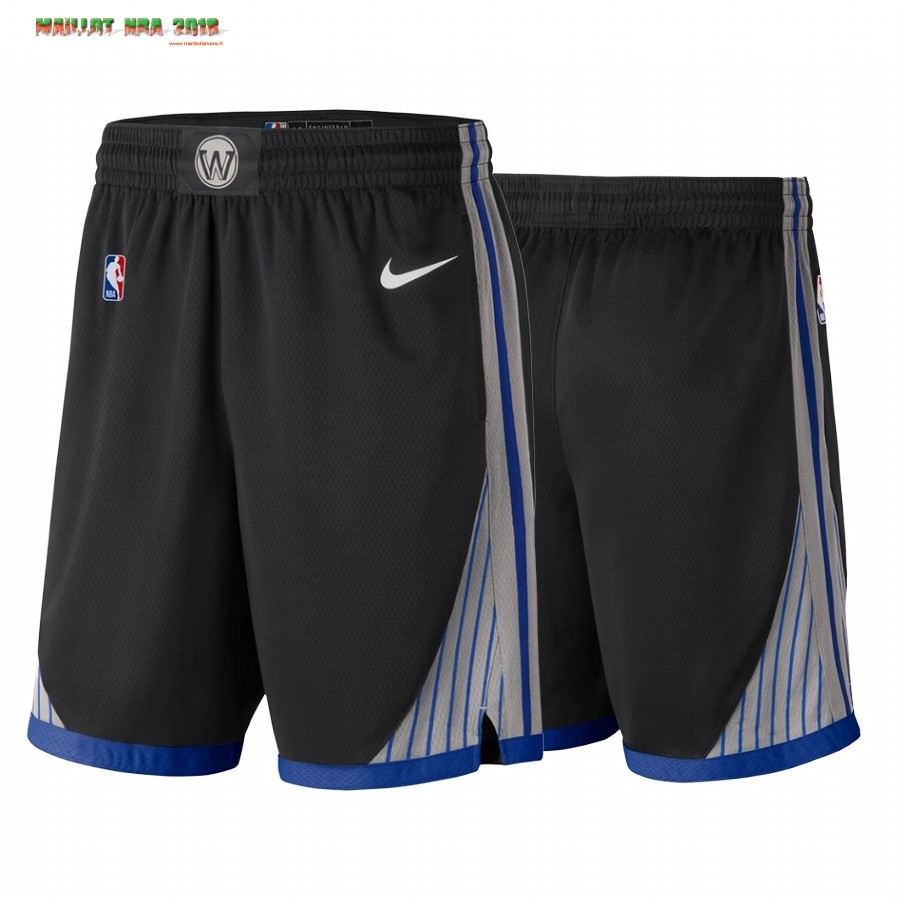 Short Basket Golden State Warriors Nike Noir Ville 2019-20
