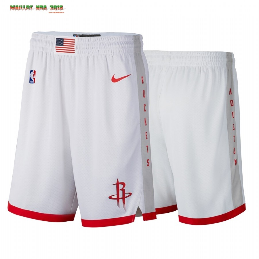Short Basket Houston Rockets Nike Blanc Ville 2019-20
